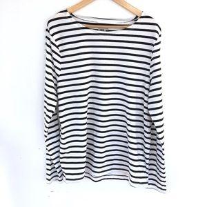 ASOS b+w striped long sleeve top
